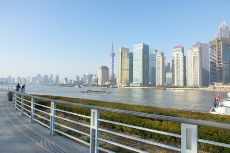 In 2013 the Shanghai skyline Stock Photo - 20692064