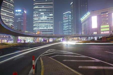 Night Shanghai traffic Stock Photo - 23003423