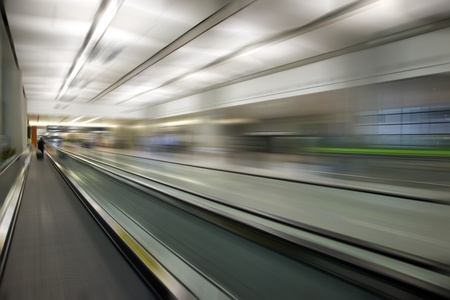 Airport fast motion photo