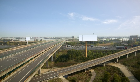 viaducts: China expressway Stock Photo