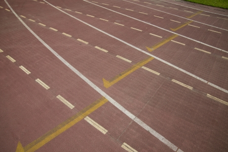 norms: Sports runway track Stock Photo