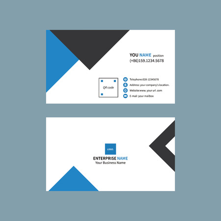 Black and blue business card 일러스트