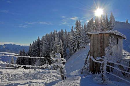 Shed /Wallberg / Tegernsee / Lake Tegern / Alps Stock Photo - 8908148