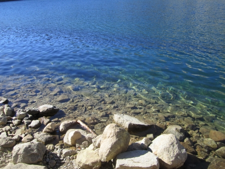 mammoth lakes: Lake George, lake and rocks, mammoth lakes, california, fishing lake, lakes and rocks