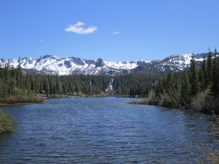 mammoth lakes: Twin Lakes, Waterfall, Mammoth Lakes, California, Mountain Lakes, Mountain Waterfalls