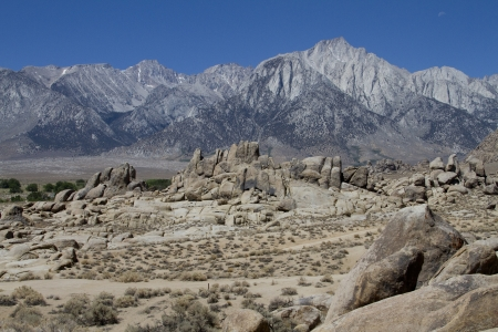 Alabama Hills, Mount Whitney, California photo