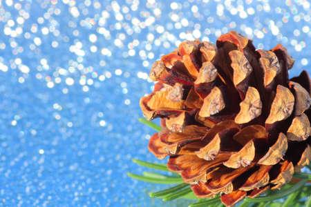 pinecones: Christmas decoration with pinecones Stock Photo