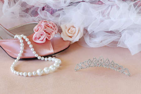 pink pearl: romantic background for wedding, party or prom