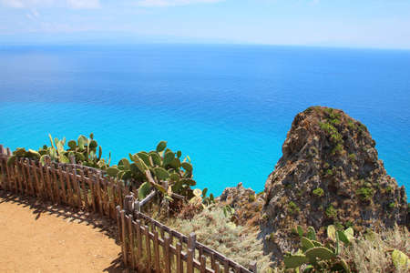View on Capo Vaticano near Tropea in Calabria, Italy Stock Photo