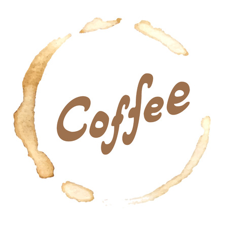 smudgy: Coffee lettering in coffee trace. The handwritten word Coffee.
