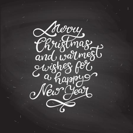 Citaten Kerst En Nieuwjaar : Hand getrokken vector belettering vrolijk kerstfeest en gelukkig