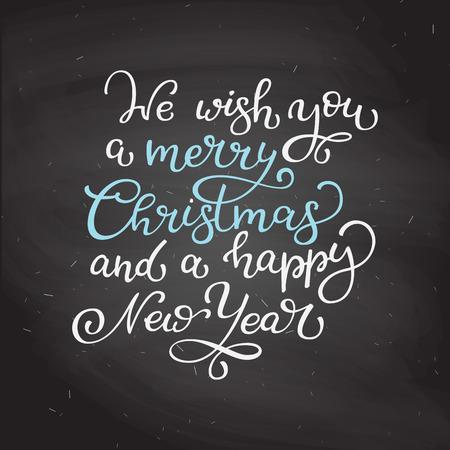 Citaten Kerst En Nieuwjaar : Hand getrokken vector belettering we wensen u een vrolijk