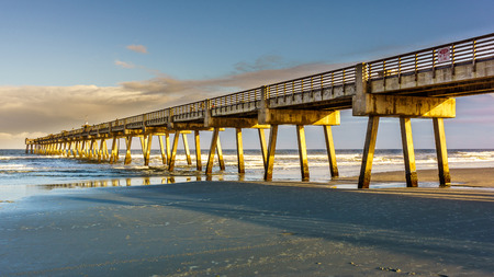 Pier in Florida during sunset Stock Photo