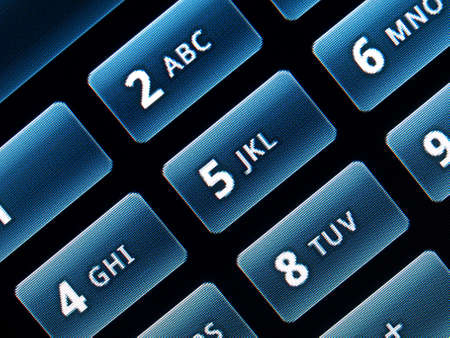 Detail of the tactile keyboard of a phone Stock Photo - 6262860