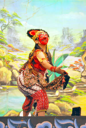 Tari topeng or mask dance is the traditional dance from indonesia Stock Photo - 4167720