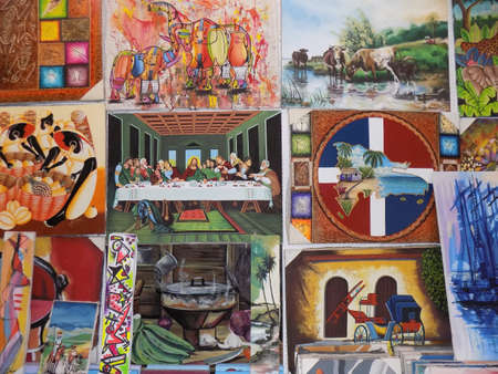 naif: exhibition and sale of naif painting in a market