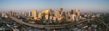 Panoramic image of Brickell Miami Florida