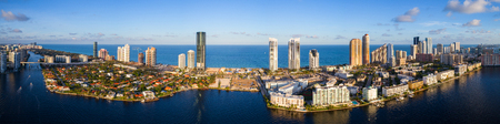 Aerial high def image of Sunny Isles Beach FL Stock Photo