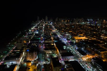 Night in South Beach Stok Fotoğraf