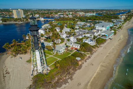 Aerial image Hillsboro Lighthouse Florida USA