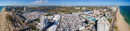 Aerial image of the 2017 Ft Lauderdale Florida boat show USA Editöryel