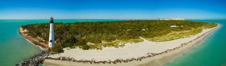 Aerial image of the Cape Florida Lighthouse El Farito