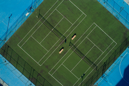 Aerial photo of a tennis court