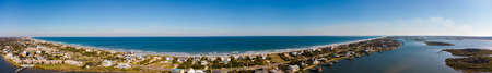 Crescent Beach, FL, USA aerial panorama Foto de archivo