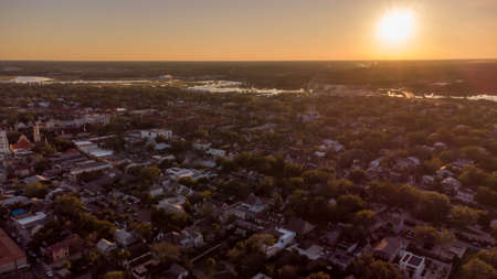 Aerial photo Sunset St Augustine Florida USA