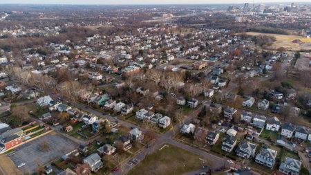 Aerial photo Richmond VA USA
