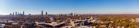 Aerial panorama Atlanta Georgia USA