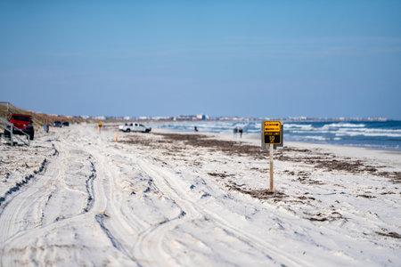 Driving on Crescent Beach FL USA Foto de archivo