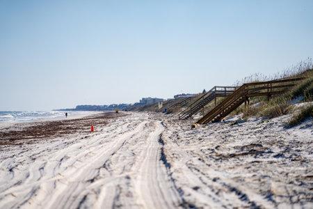Beautiful Florida sand. Crescent Beach scene