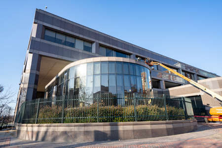 Charlotte, NC, USA - December 12, 2020: Federal Reserve Bank building Charlotte NC USA