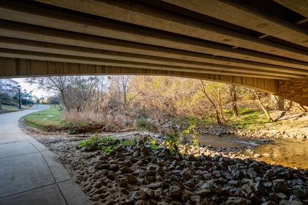 Under a bridge by the Little Sugar Creek NC USA