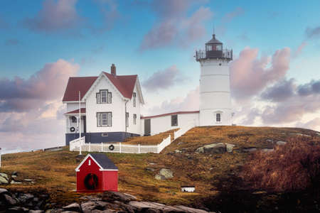 Nubble Lighthouse famous to Maine USA