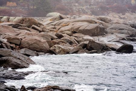 Rough waters Maine USA Foto de archivo