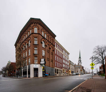 Bangor, ME, USA - December 12, 2020: Penobscot Financial Advisors Building Bangor Maine USA Editorial