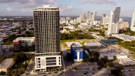 Miami, FL, USA - January 3, 2021: Aerial photo Canvas Condominiums Downtown Miami FL Editorial