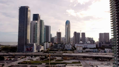 Miami, FL, USA - January 2, 2021: Highrise buildings Downtown Miami FL USA