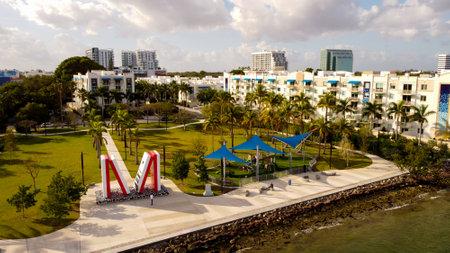 Aerial photo of Albert Pallot Park Miami FL