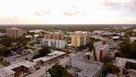 Aerial photo housing apartments North Miami FL USA