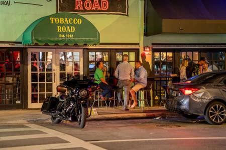 Miami, FL, USA - July 9, 2021: Tobacco Road Bar established in 1912 located at Brickell Miami