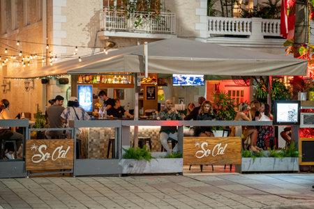 Miami, FL, USA - July 9, 2021: SoCal Cantina Modern taqueria Mary Brickell Village