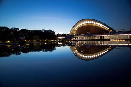 """BERLIN: the """"Haus der Kulturen der Welt"""" (House of World Cultures) in the Tiergarten district of Berlin."""