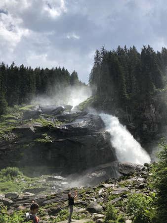 Krimml Waterfalls in High Tauern National Park (Austria)