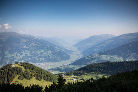 Bautiful tyrol mountain landscape in summer. Austrian Alps Banco de Imagens