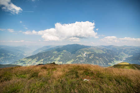 Bautiful tyrol mountain landscape in summer. Austrian Alps 版權商用圖片