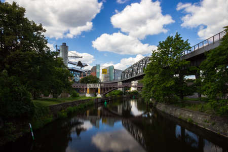 Kreuzberg is one of the best-known areas of Berlin. The Landwehr Canal is a 10.7-kilometre long canal parallel to the Spree river in Berlin. Editorial
