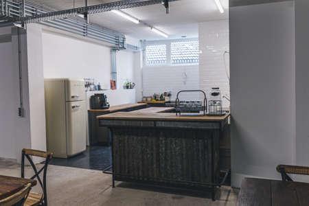 Empty Interior Of Modern Design Office kitchen